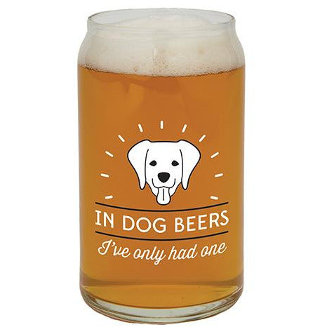 In Dog Beers 16oz Glass