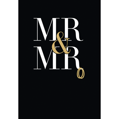 Mr And Mr Foil Card