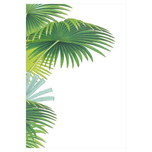 Palm Fronds - Invite Blank 8 In