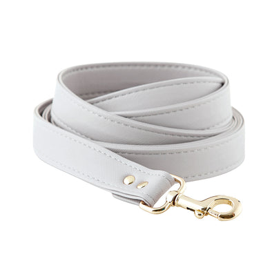 Saffiano Leash - Grey
