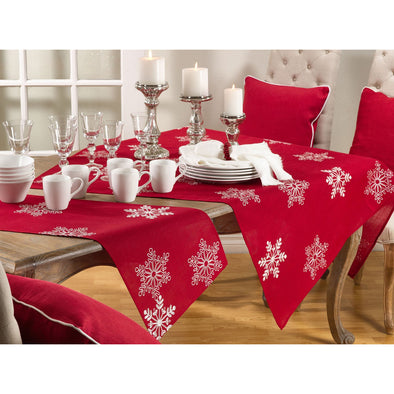 "Snowflake Design Runner 16"" x 108"" - Red"