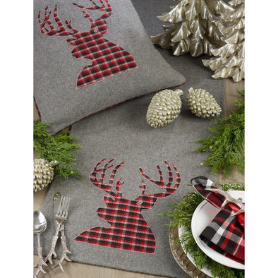 "Plaid Reindeer Runner 16"" x 72"""