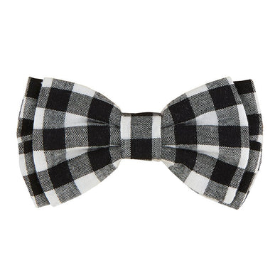 Pet Bow Ties-Blk Buffalo Check