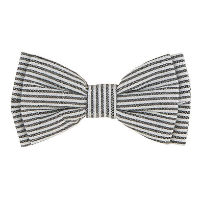 Pet Bow Ties-Grey Stripe