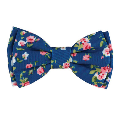 Pet Bow Ties-Blue Floral
