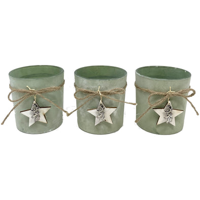 Tealight Holder S/3 Frosted