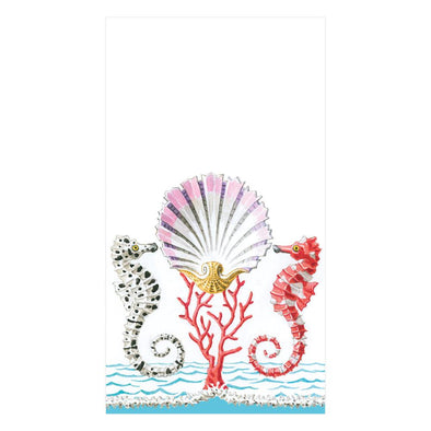 Guest Towel Napkin - Seahorses And Shell