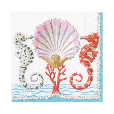 Luncheon Napkin - Seahorses And Shell