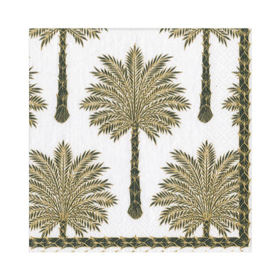 Luncheon Napkin - Grand Palms Black