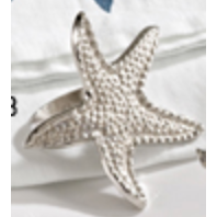 Starfish Napkin Ring Silver