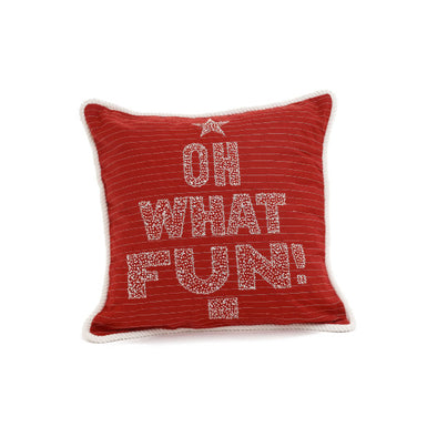 Oh What Fun Pillow 17""