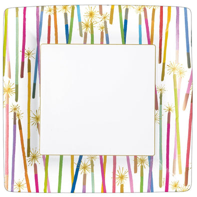 Birthday Candles Dinner Plates Square