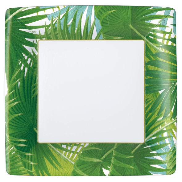 Palm Fronds Dinner Plates Square