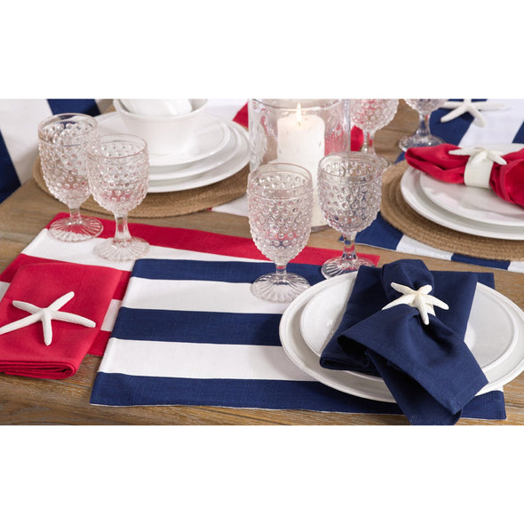 Striped Patriotic Placemat - Navy Blue