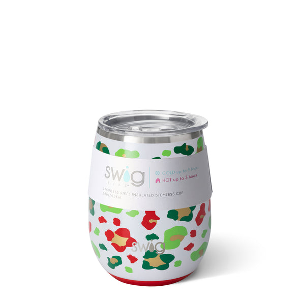 Stemless Wine Cup - Jingle Jungle 14oz