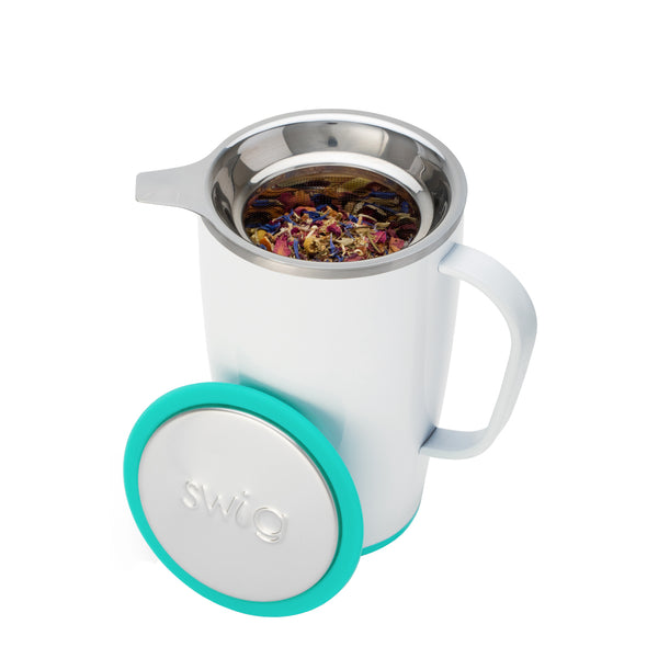 Stainless Steel Basket Tea Infuser With Silicone Cover