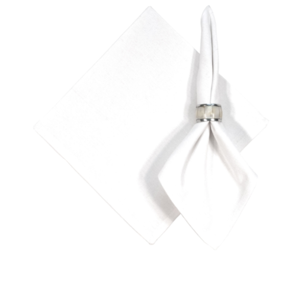 Napkin White - Opal and Olive