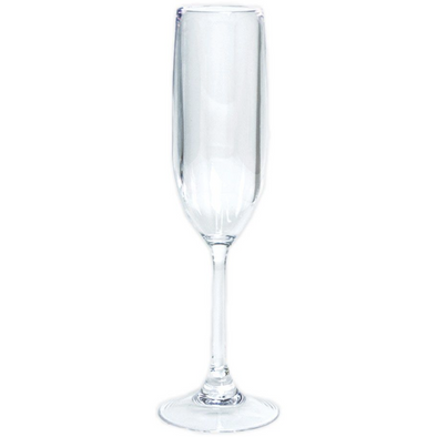 Acrylic Champagne Flute - Clear - Opal and Olive
