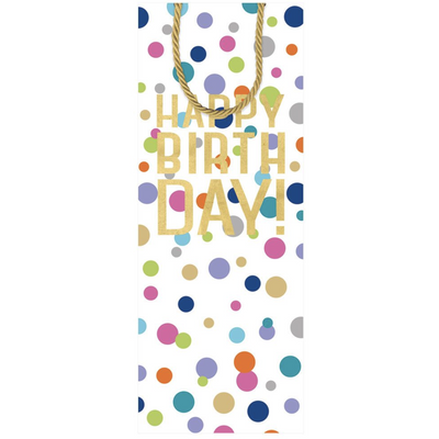Happy Birthday Confetti Bottle Bag 5 X 3 1/2 X 13 - Opal and Olive