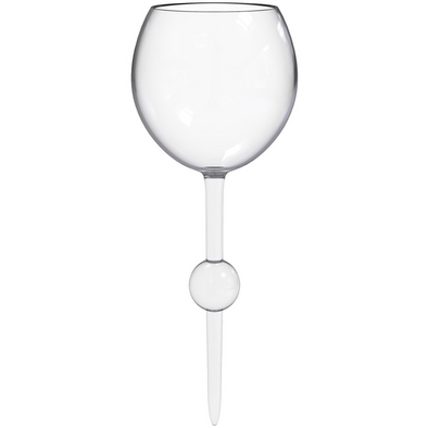 Clear Acrylic Floating Wine Glass - Opal and Olive
