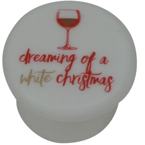 White Christmas Wine Cap