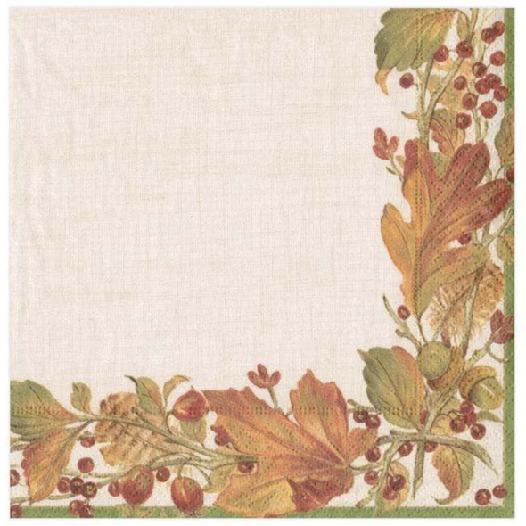 Cocktail Napkin - Autumn Garland