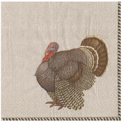 In this Design: Artist, Karen Kluglein, painted this regal Thanksgiving turkey as a celebratory autumn symbol