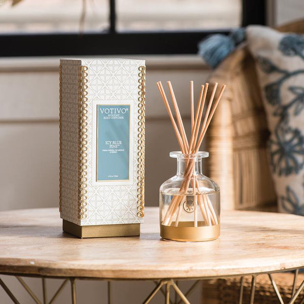Icy Blue Pine Holiday Reed Diffuser