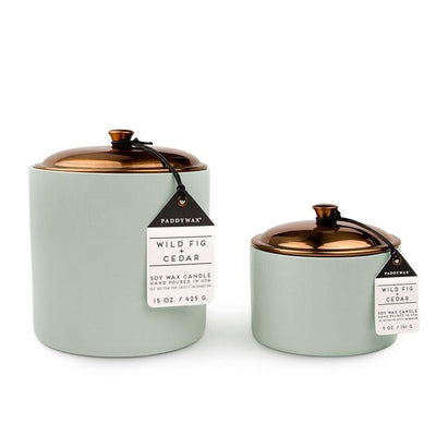 Hygge Candle - 15 oz Wild Fig & Cedar - Opal and Olive