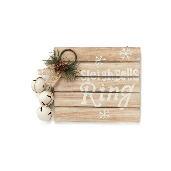 Wooden Wall Art - Sleigh Bells Ring