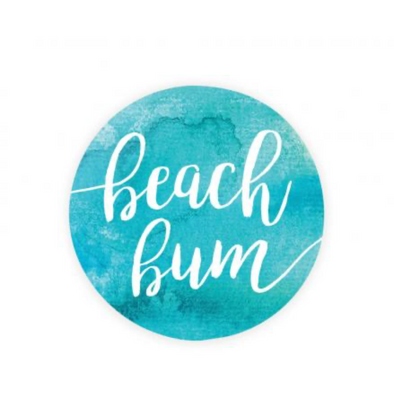 Beach Bum Car Coaster
