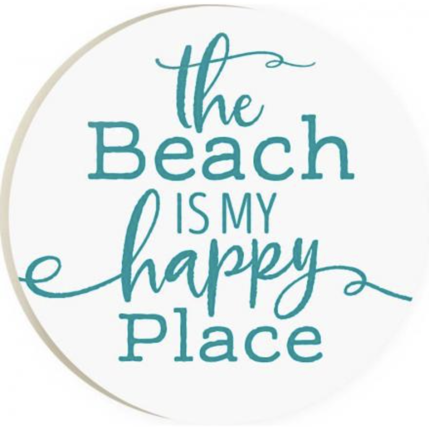 The Beach Is My Happy Place Car Coaster Opal And Olive