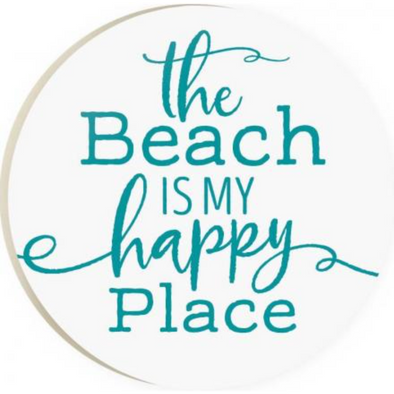 The Beach is my Happy Place Car Coaster