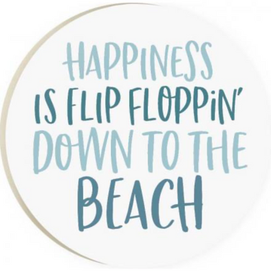 Happiness is Flip Flops Car Coaster
