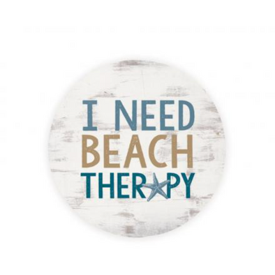 I Need Beach Therapy Car Coaster
