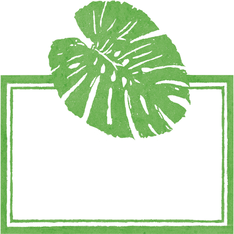 Palm Leaves Green - Place Cards