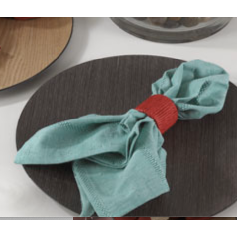 Faux Wood Charger Plate - Opal and Olive