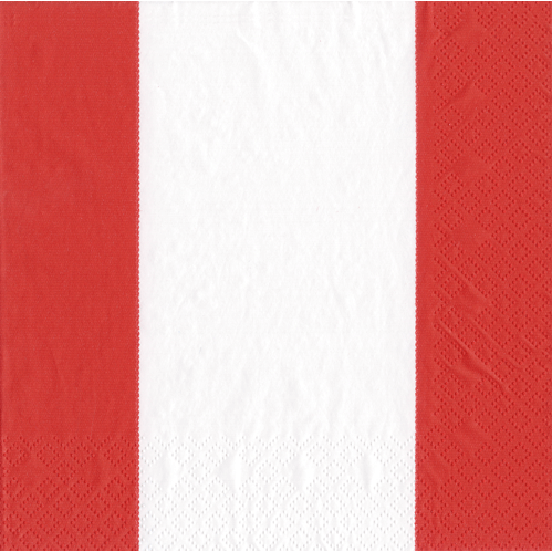 Cocktail Napkin - Bandol Stripe Red - Opal and Olive