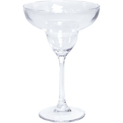 Acrylic Margarita Glass - Clear - Opal and Olive