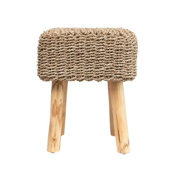 Seagrass Square Stool