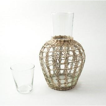 Seagrass Cage Pitcher Carafe