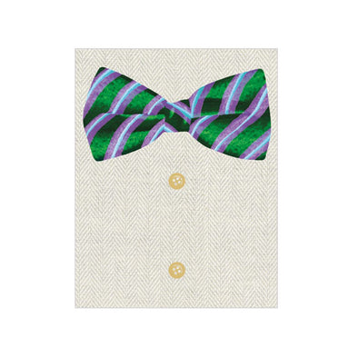 Bow Tie - Enclosure Card - Opal and Olive
