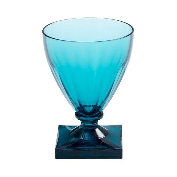 Acrylic Wine Goblet - Turquoise - Opal and Olive