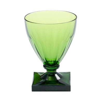 Acrylic Wine Goblet - Emerald - Opal and Olive