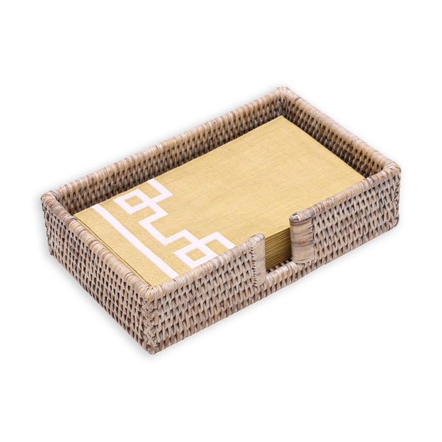 Rattan Guest Napkin Holder - White