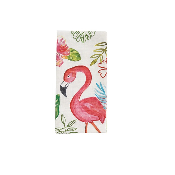 Tropical Flamingo Dishtowel