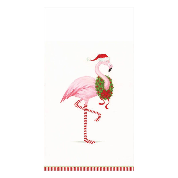 Guest Towel - Christmas Flamingo