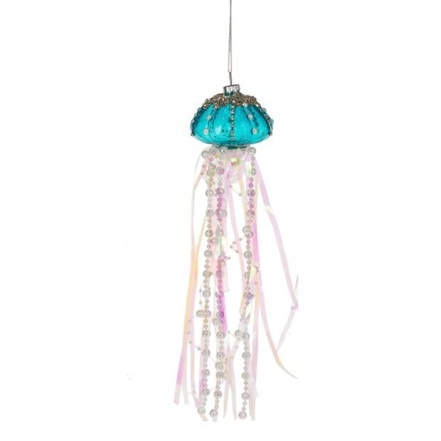 Jelly Fish Ornament Blue