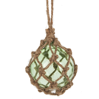 Jute Wrapped Ornament Green