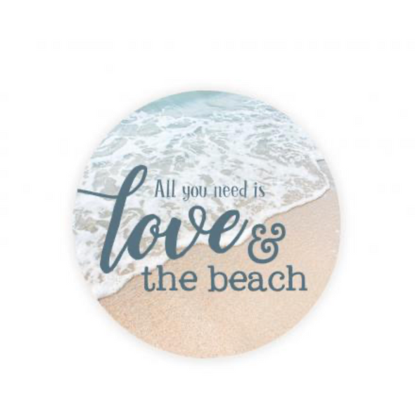 Love and the Beach Car Coaster